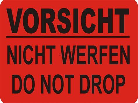 Ch Aufkleber Migros by Warnetiketten Quot Vorsicht Nicht Werfen Do Not Drop Quot Abtifa