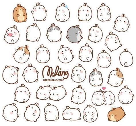 sticker doodle draw 265 best images about molang on