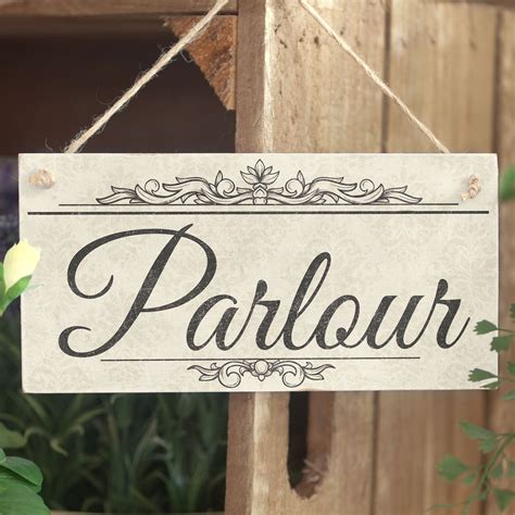 shabby chic wooden signs parlour handmade shabby chic wooden sign plaque