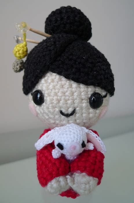 amigurumi geisha pattern pattern chinese new year doll all about ami