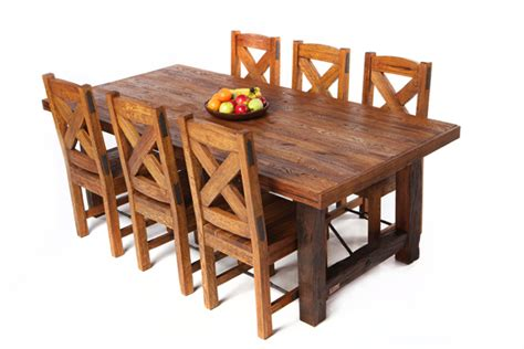 Reclaimed Oak Wood Dining Tables And Chairs Hand Made Reclaimed Wood Dining Table And Chairs
