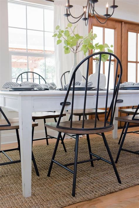 farmhouse dining room table best 25 farmhouse table chairs ideas on