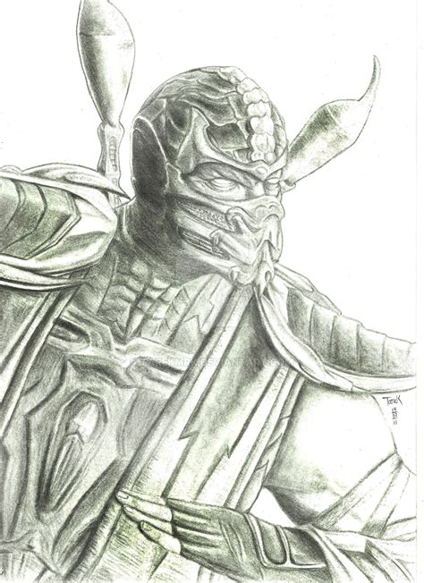 how to draw scorpion from mortal kombat x easy things to scorpion mortal kombat 9 by tarekmrk on deviantart