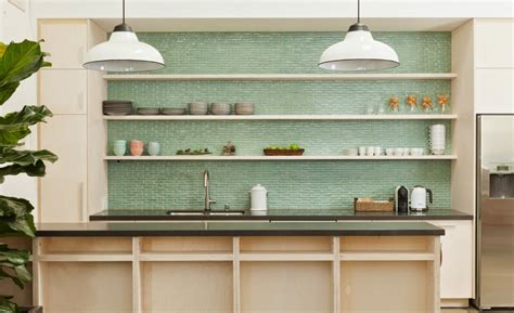 blue green glass tile kitchen backsplash rapflava