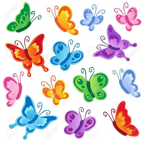 Pics Of Cartoon Butterflies : Kids Coloring   europe