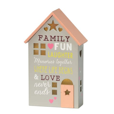 Family Where Life Begins Light Up House Gift All About Light Up House