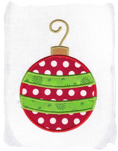 christmas ornament machine embroidery by pinkfrogcreations