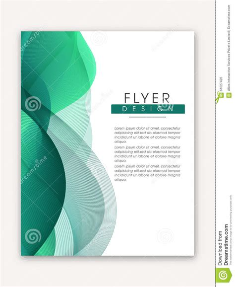 stylish business flyer or template stock photo image