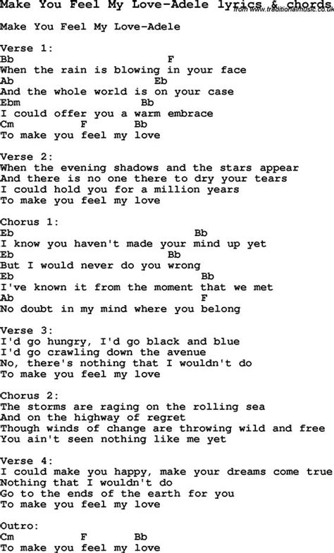 Adele Make You Feel My Love Guitar Chords