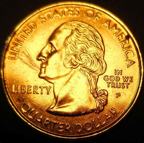 gold colored quarter 2000 p golden quarter coin community forum
