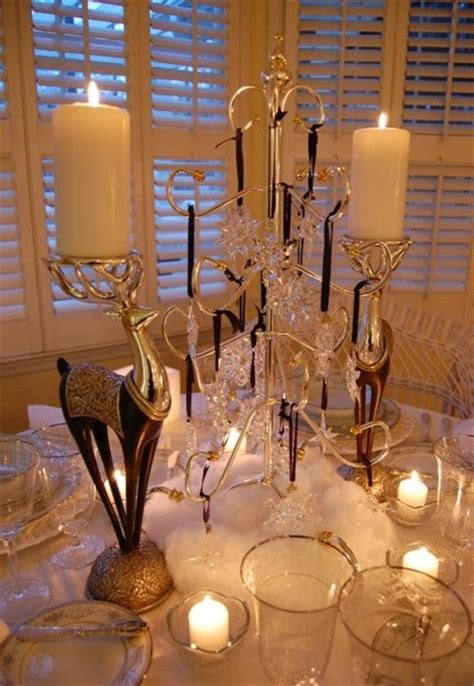 centerpieces with ornaments winter table setting with swarovski ornament centerpiece