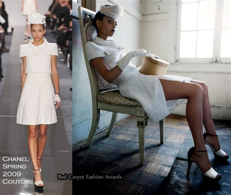 Catwalk To Carpet Schiffer Thandie Newton In Chanel Couture by Thandie Newton For Instyle Uk December 2009 Carpet