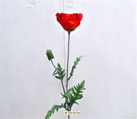 papavero fiore fiore artificiale papavero maxi rosso per composizioni di