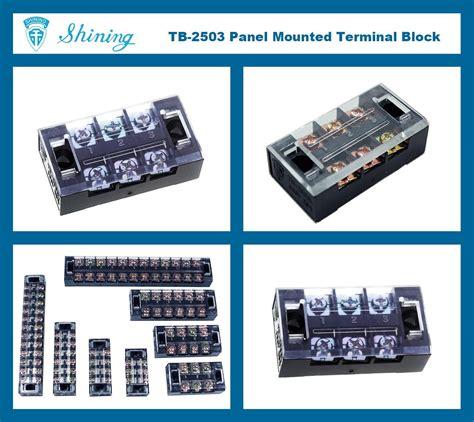 Terminal Tb 2503 固定式柵欄端子台 tb 2503 台灣高品質固定式柵欄端子台 tb 2503 製造商 享曆工業股份有限公司