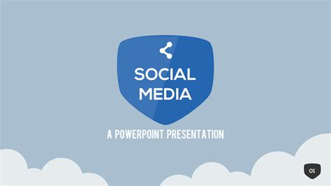 Social Media Powerpoint Template By Slidehack Graphicriver Social Media Powerpoint Template Free