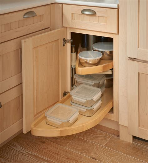 Corner Cabinet Solutions In Kitchens Storage Solutions Details Base Blind Corner W Wood Lazy Susan Kraftmaid Kitchen