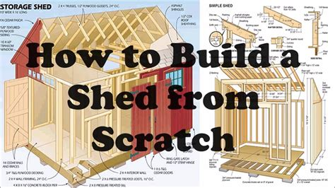 how to build and how to build a shed from scratch youtube