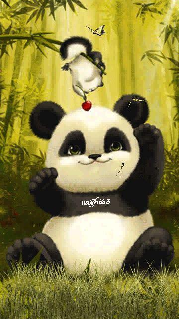 wallpaper panda lucu wallpaperall