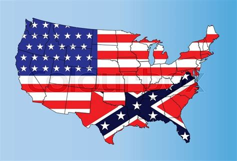 Civil War South Flag Usa united states map and flag 15258703 confederate states