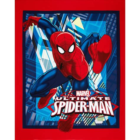 spiderman pattern fabric marvel comics spiderman ultimate spider man panel red