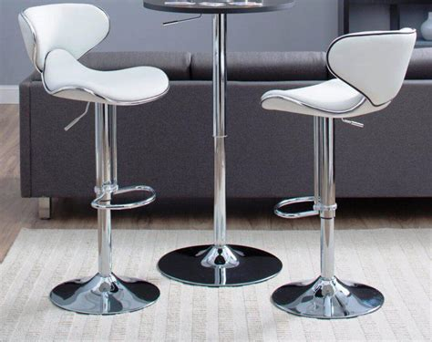 Contemporary White Leather Bar Stools white leather bar stools contemporary cabinets beds