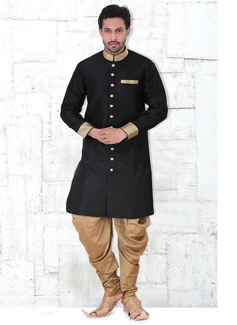 kurta pattern in black designer kurta pajama online readymade online black kurta