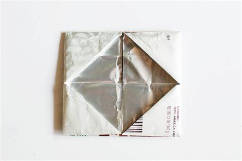 Origami Wallet - origami wallet from a coffee bag giving back with