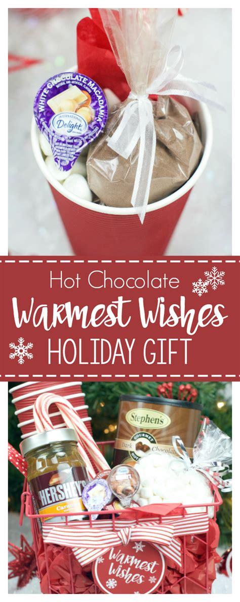hot chocolate gift basket  christmas fun squared