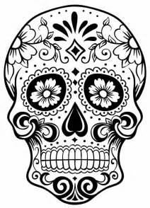 skull color sugar skull colouring page day of the dead coloring home