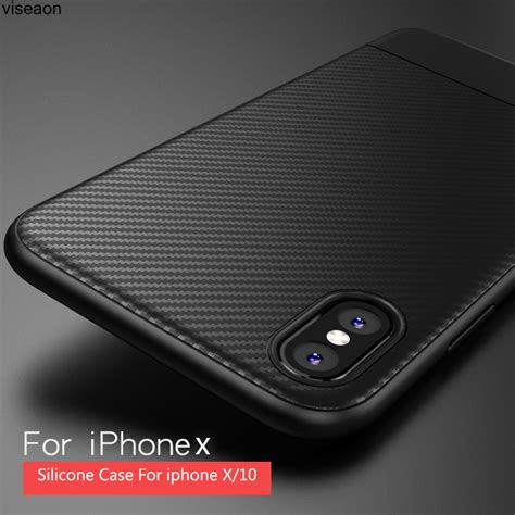 hybrid carbon fiber hardcase for iphone x black jakartanotebook