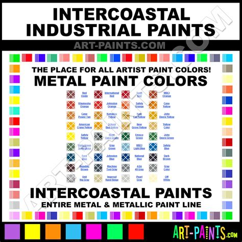intercoastal industrial metal paint colors metallic paint colors intercoastal industrial