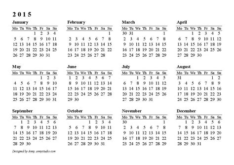 2014 printable calendars large numbers autos weblog