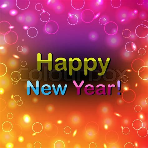 new year colouring posters color happy new year poster stock photo colourbox