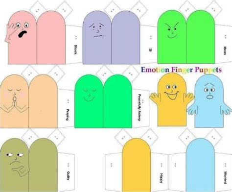How To Make Paper Finger - emotion finger puppets fingers paper and feelings