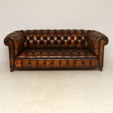 antique leather chesterfield sofa antique buttoned leather chesterfield sofa