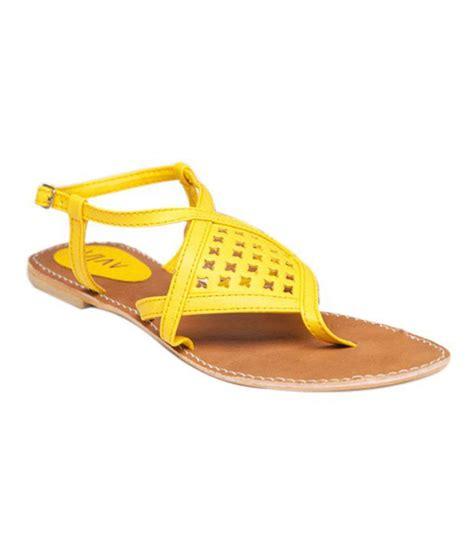 flat yellow sandals aiva bright yellow flat sandals price in india buy aiva