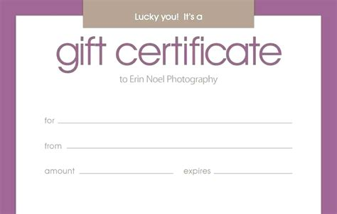 gift card voucher template blank gift certificate template word performance