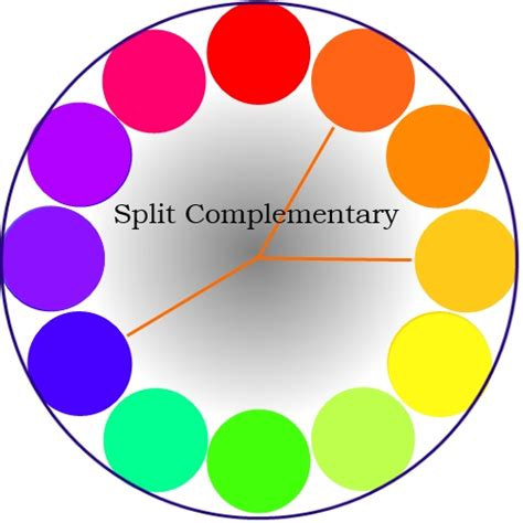split complementary color scheme art colors kalabharati org school of music and arts