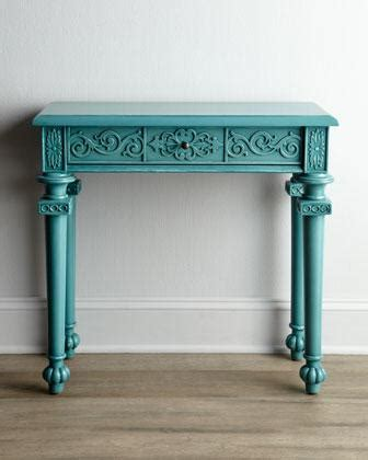 Turquoise Console Table Console Neiman