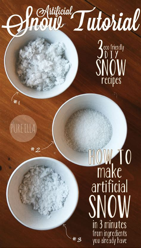 How To Make A Paper Snowball - how to make artificial snow 3 easy eco friendly