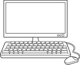 Computer Desktop Drawing Desktop Computer Line Free Clip