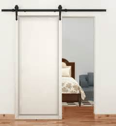 Sliding Barn Doors For Home 6 Ft Modern Antique Style Black Steel Sliding Barn Wood