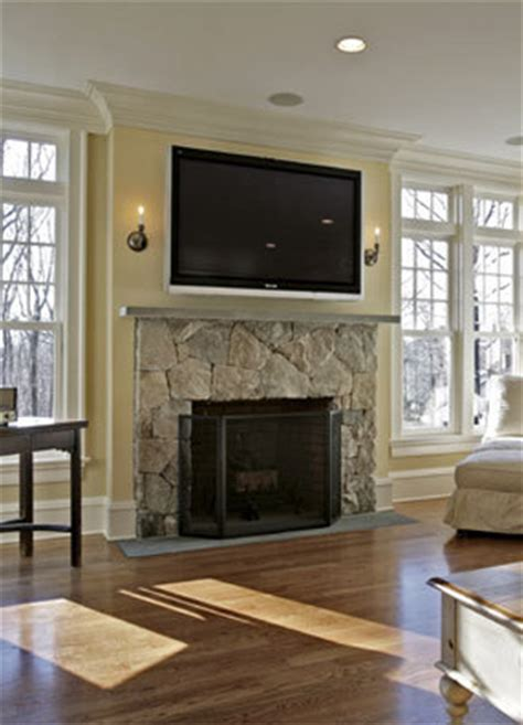 Mounting Tv Gas Fireplace by Stones Fireplaces House Design Fireplaces Mantels