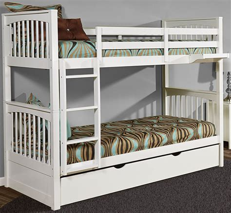 pulse white bunk bed with trundle from ne