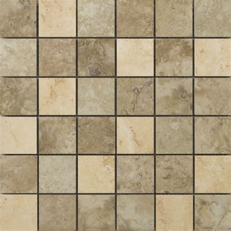 shop emser lucerne mosaic blend uniform squares mosaic porcelain thinset mortar floor and wall