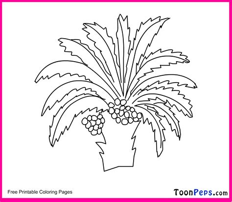 free coloring pages of palm leaf