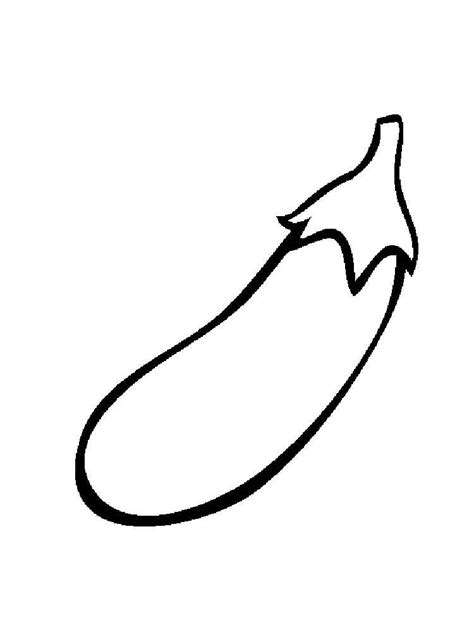 Coloring Page Of A by Eggplant Coloring Pages And Print Eggplant