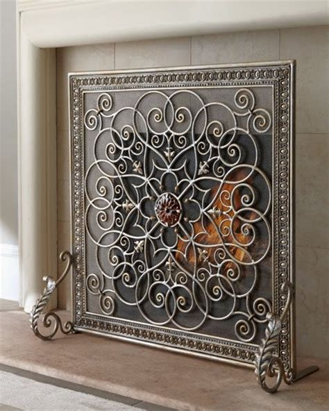 wooden fireplace screen horchow la boheme fireplace screen by janice minor home