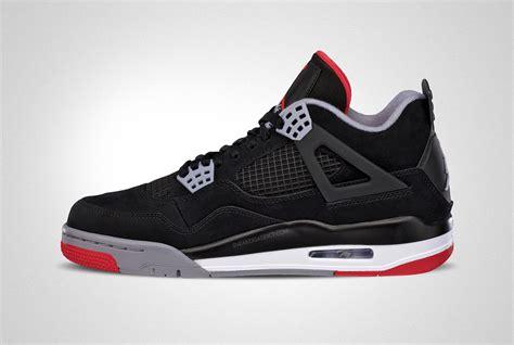 jordon sneakers air iv bred air shoes hq
