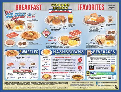 Waffle House Menu Waffle House